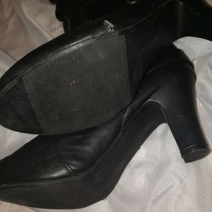 Boots Shoes - Black Sexy Knee High Boots With Buckle Size 11